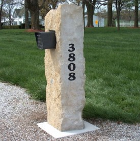 #3043 Rock Mailbox with 1 Hole mail box add engraving