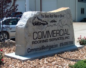 "Rock-5 Commercial 72"" Long X 14"" Thick X 48"" Tall comes with engraving"